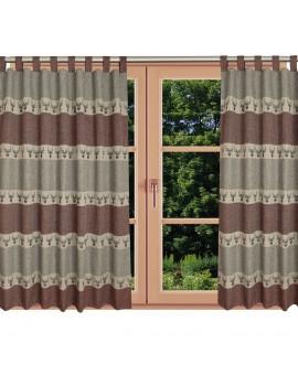 Hochwertiger Schlaufen-Dekoschal Alpin Hirsch rost am Fenster Sommer