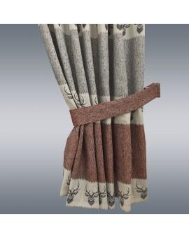1 Stück Raffhalter rost uni passend zu Dekoschal-Serien Alpin Beispielbild