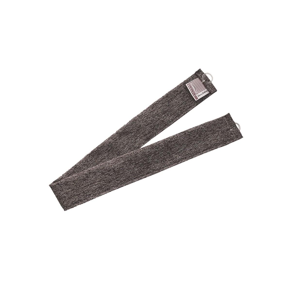 1 Stück Raffhalter braun uni passend zu Dekoschal-Serien Alpin und Albergo