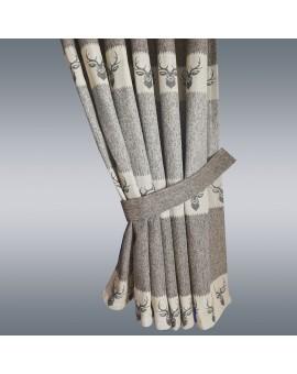 1 Stück Raffhalter braun uni passend zu Dekoschal-Serien Alpin und Albergo Beispielbild
