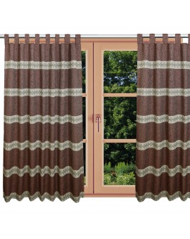 Hochwertiger Schlaufen-Dekoschal Albergo Raute rost am Fenster Sommer