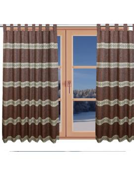 Hochwertiger Schlaufen-Dekoschal Albergo Raute rost am Fenster Winter
