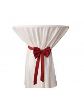 Schmuckschleife Hetty für Stuhlhussen und Stehtische Rot am Tisch