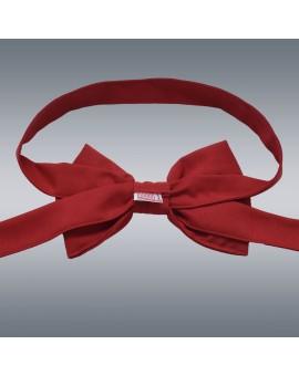 Schmuckschleife Hetty für Stuhlhussen und Stehtische Rot von hinten