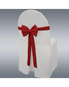 Schmuckschleife Hetty für Stuhlhussen und Stehtische Rot mit Hintergrund