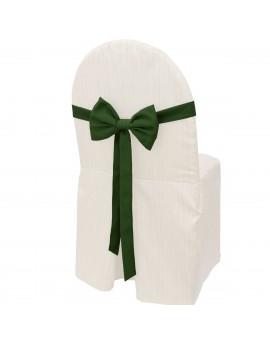 Schmuckschleife Hetty für Stuhlhussen und Stehtische Grün am Stuhl