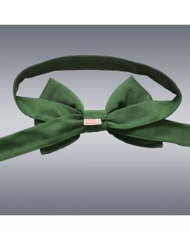 Schmuckschleife Hetty für Stuhlhussen und Stehtische Grün von Hinten