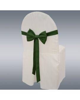 Schmuckschleife Hetty für Stuhlhussen und Stehtische Grün mit Hintergrund
