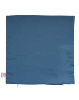 Hochwertige Kissenhülle Seaside blau uni 40x40 cm ohne Füllung