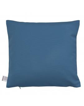 Hochwertige Kissenhülle Husum blau uni 40x40 cm