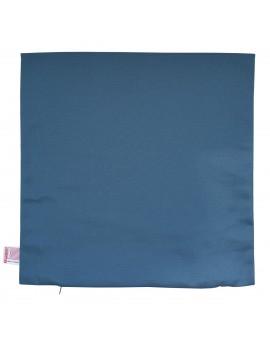 Hochwertige Kissenhülle Husum blau uni 40x40 cm ohne Füllung