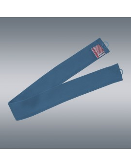 1 Stück Raffhalter blau uni passend zu Dekoschal-Serie Seaside mit Hintergrund