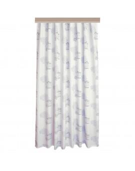 Hochwertiger Dekoschal Seaside blau-weiß-grau Reihband