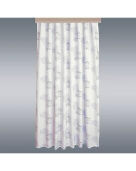 Hochwertiger Dekoschal Seaside blau-weiß-grau Reihband mit Hintergrund