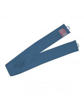 1 Stück Raffhalter blau uni passend zu Dekoschal-Serie Husum