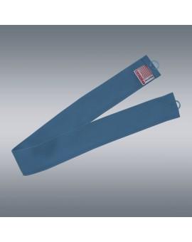 1 Stück Raffhalter blau uni passend zu Dekoschal-Serie Husum mit Hintergrund
