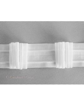 3 m Reihband Automatik-Faltenband Gardinenband 1 : 3 weiß 50mm 5 Falten 12125-50