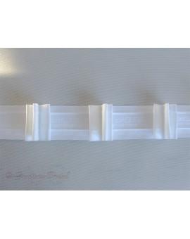 3 m Reihband Automatik-Faltenband Gardinenband 1:2,5 weiß 50mm 3 Falten