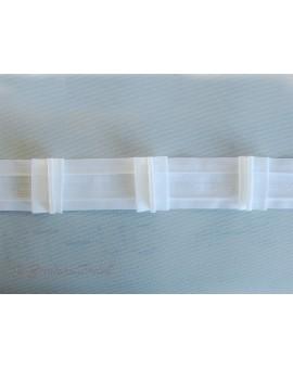 3 m Reihband Automatik-Faltenband Gardinenband 1:2 weiß 50mm 3 Falten