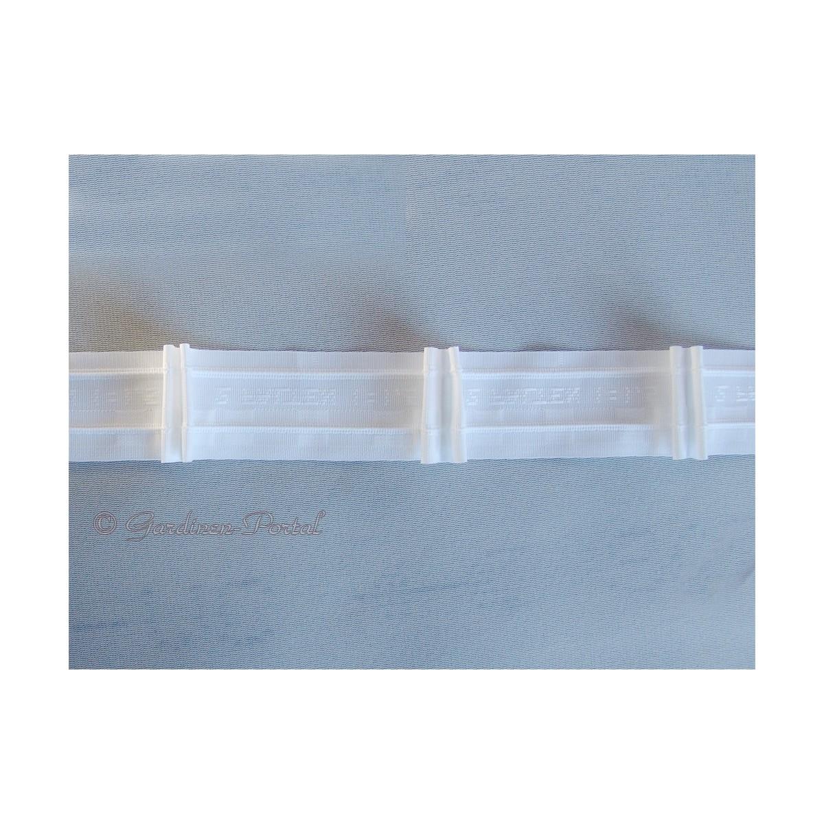 3 m Reihband Automatik-Faltenband Gardinenband 1:1,5 weiß 50mm 2 Falten