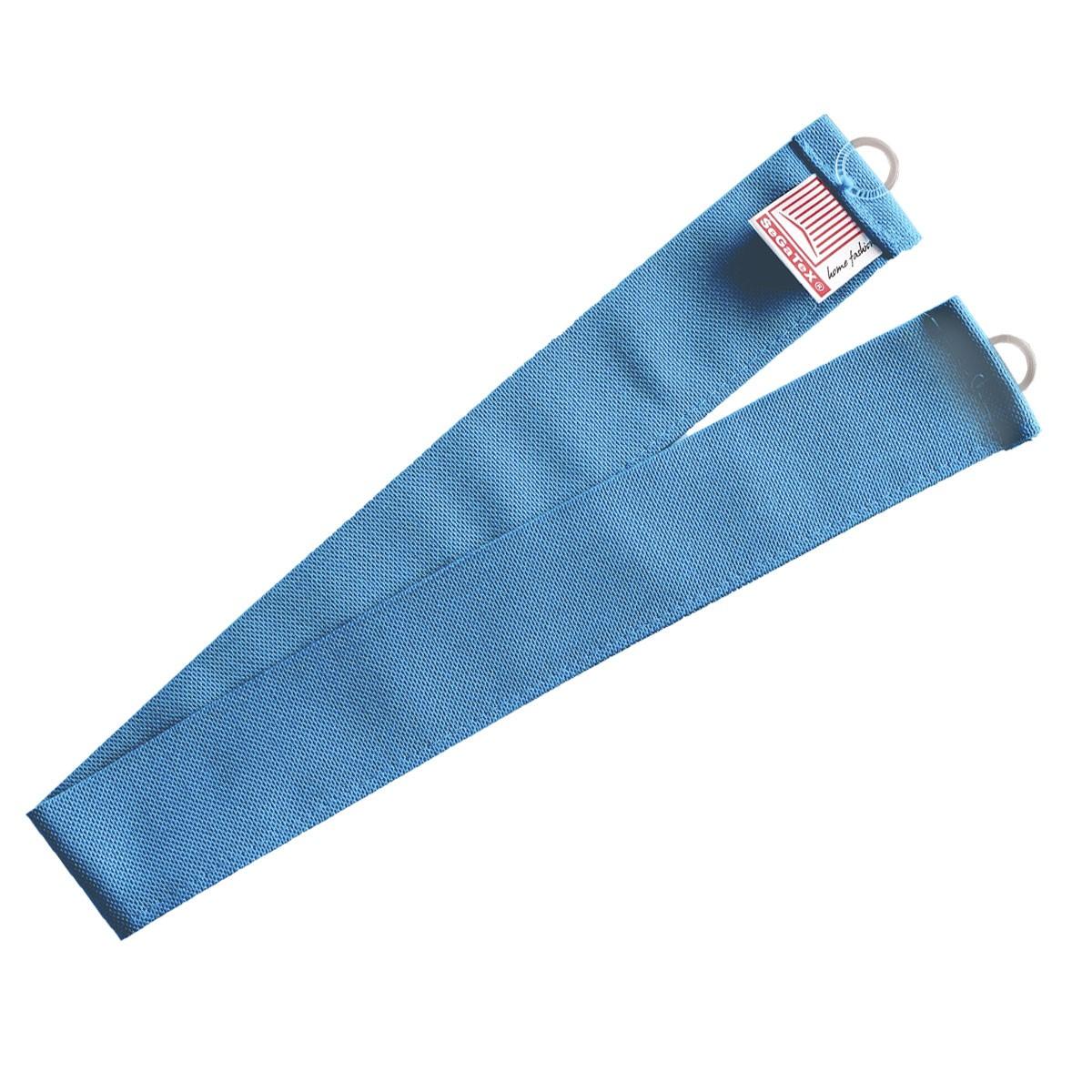 1 Stück Raffhalter hellblau uni passend zu Dekoschal-Serie Blubb-Kids