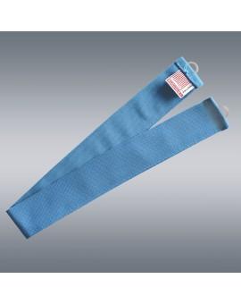 1 Stück Raffhalter hellblau uni passend zu Dekoschal-Serie Blubb-Kids mit Hintergrund