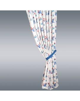 1 Stück Raffhalter hellblau uni passend zu Dekoschal-Serie Blubb-Kids Anwendung