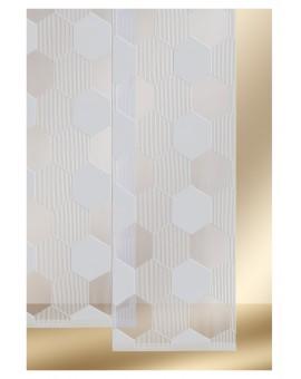 """Flächengardine """"Mia"""" mit Waben-Muster Schiebevorhang grau"""