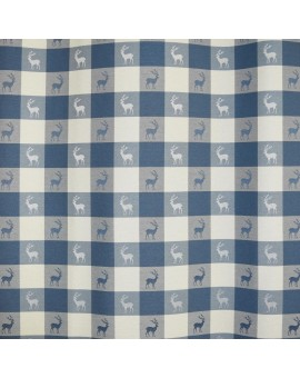Karo in Blau Meterware Dekostoff 140 cm