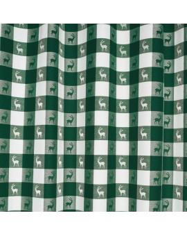 Karo in Grün Meterware Dekostoff 140 cm breit