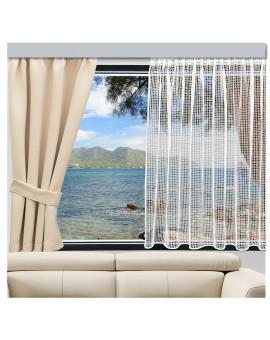 Wohnwagen Caravan Store HEDDA am Wohnmobilfenster mit Deko-Vorhang Mattis