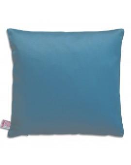 Hochwertige Kissenhülle Rügen blau uni 40x40 cm