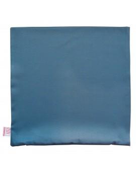 Hochwertige Kissenhülle Rügen blau uni 40x40 cm ohne Füllung