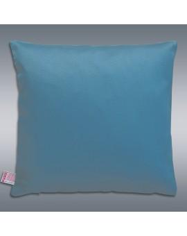 Hochwertige Kissenhülle Rügen blau uni 40x40 cm mit Füllung