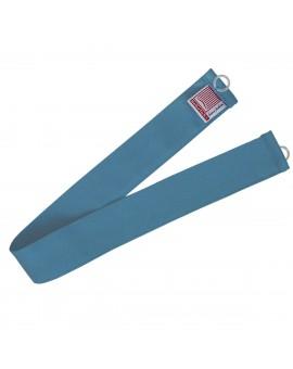 1 Stück Raffhalter blau uni passend zu Dekoschal-Serie Rügen