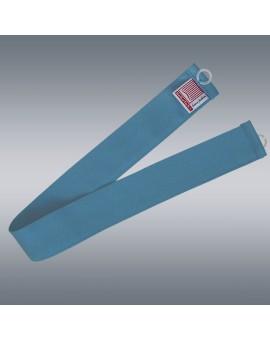 1 Stück Raffhalter blau uni passend zu Dekoschal-Serie Rügen mit Hintergrund