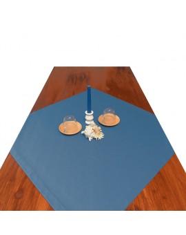 Mitteldecke Rügen blau uni dekoriert
