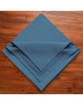 Mitteldecke Rügen blau uni gefaltet