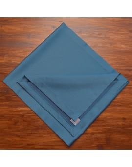 Tischläufer Rügen blau uni gefaltet
