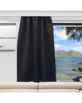 Wohnmobil-Vorhang Mattis schwarz