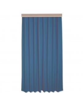 Hochwertiger Dekoschal Seaside uni blau mit Reihband