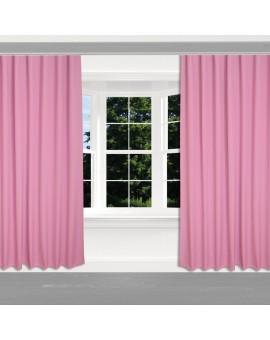 Kinder-Dekoschal Blubb-Kids Rosé Pink mit Reihband 2 Stück an einem Fenster