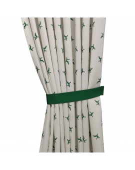 1 Stück Raffhalter grün uni passend zu Dekoschal-Serie Knut mit gemustertem Schal