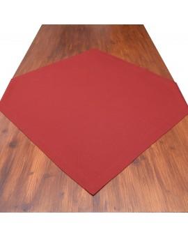 Mitteldecke Knut rot uni auf dem Tisch