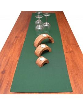 Tischläufer Knut grün uni dekoriert