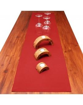 Tischläufer Knut rot uni dekoriert