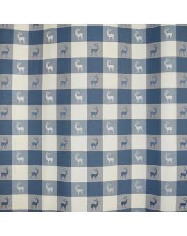 """2er-Set Dekoschal """"Karo in Blau"""" Landhaus karierter Vorhang mit Reihband"""