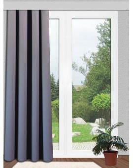 Verdunklungsgardine Reihband  Sunout Grau mit Thermoeffekt | kürzbar