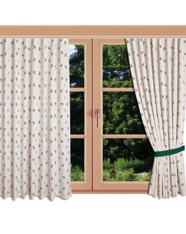 Landhaus-Reihbandschal Knut Grün mit Hirsch am Fenster