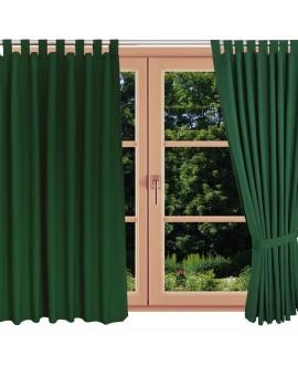 Landhaus-Schlaufenschal Knut Grün uni am Fenster
